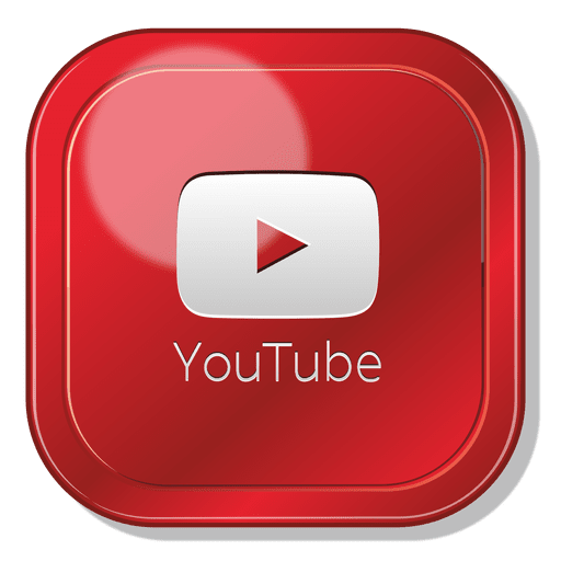 Icono play youtube png. App square logo transparent