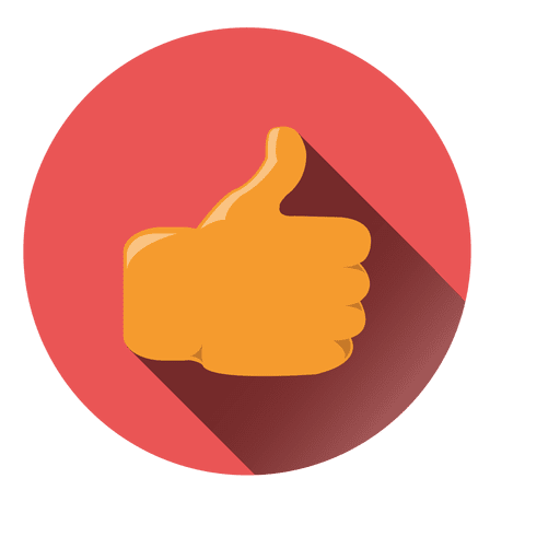 Thumbs up vector png. Circle icon transparent svg