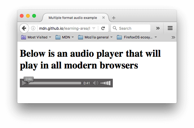 Vector syntax html. Video and audio content