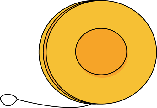 yoyo clipart orange