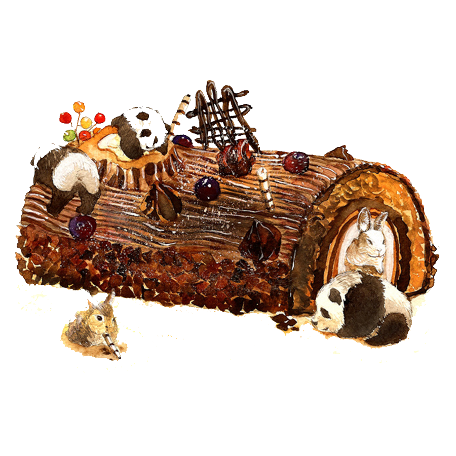 Yule log png. Chocolate cake creative cakes