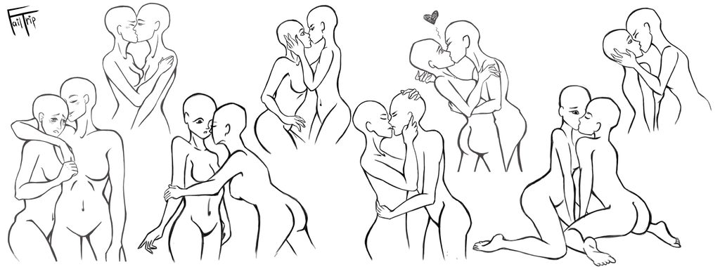 Yuri couples reference sheet. Sweet drawing couple graphic free download
