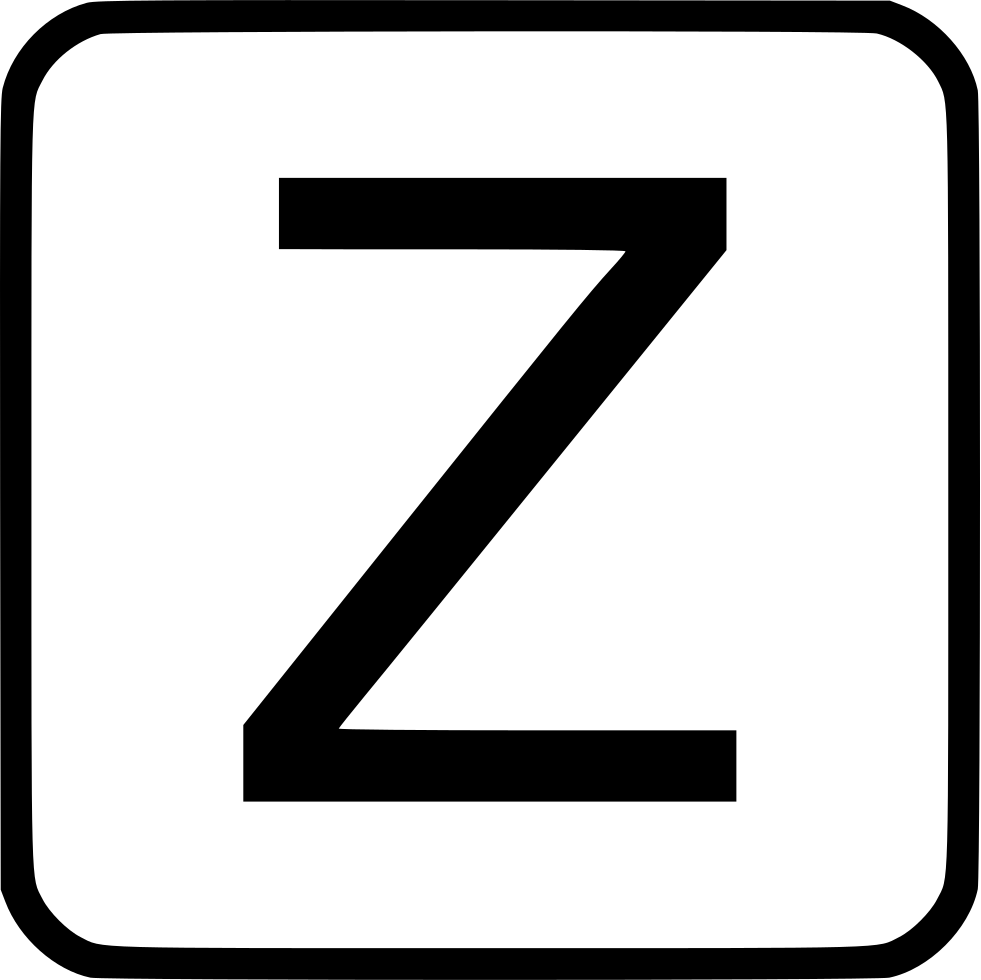 Z vector lowercase. Alphabet uppercase svg png