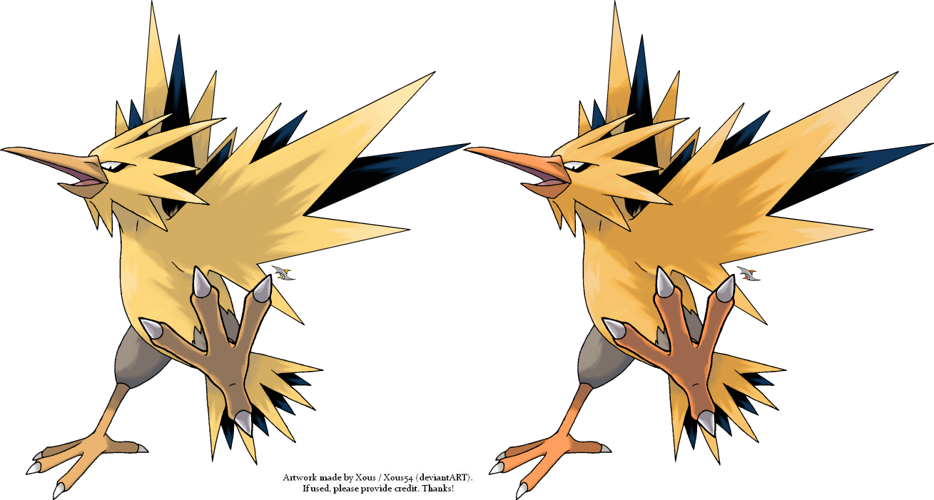 zapdos drawing