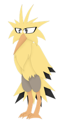 Zapdos drawing. Legendary pokemon s by