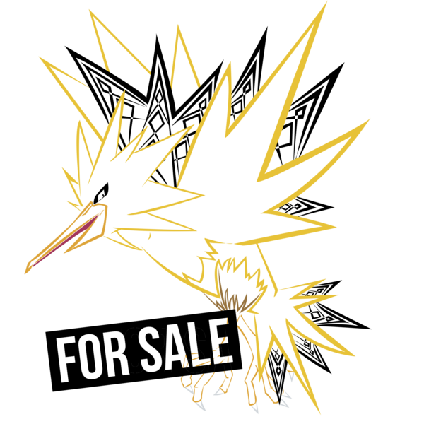 Tribal lineart by criticalcreations. Zapdos drawing clipart black and white library