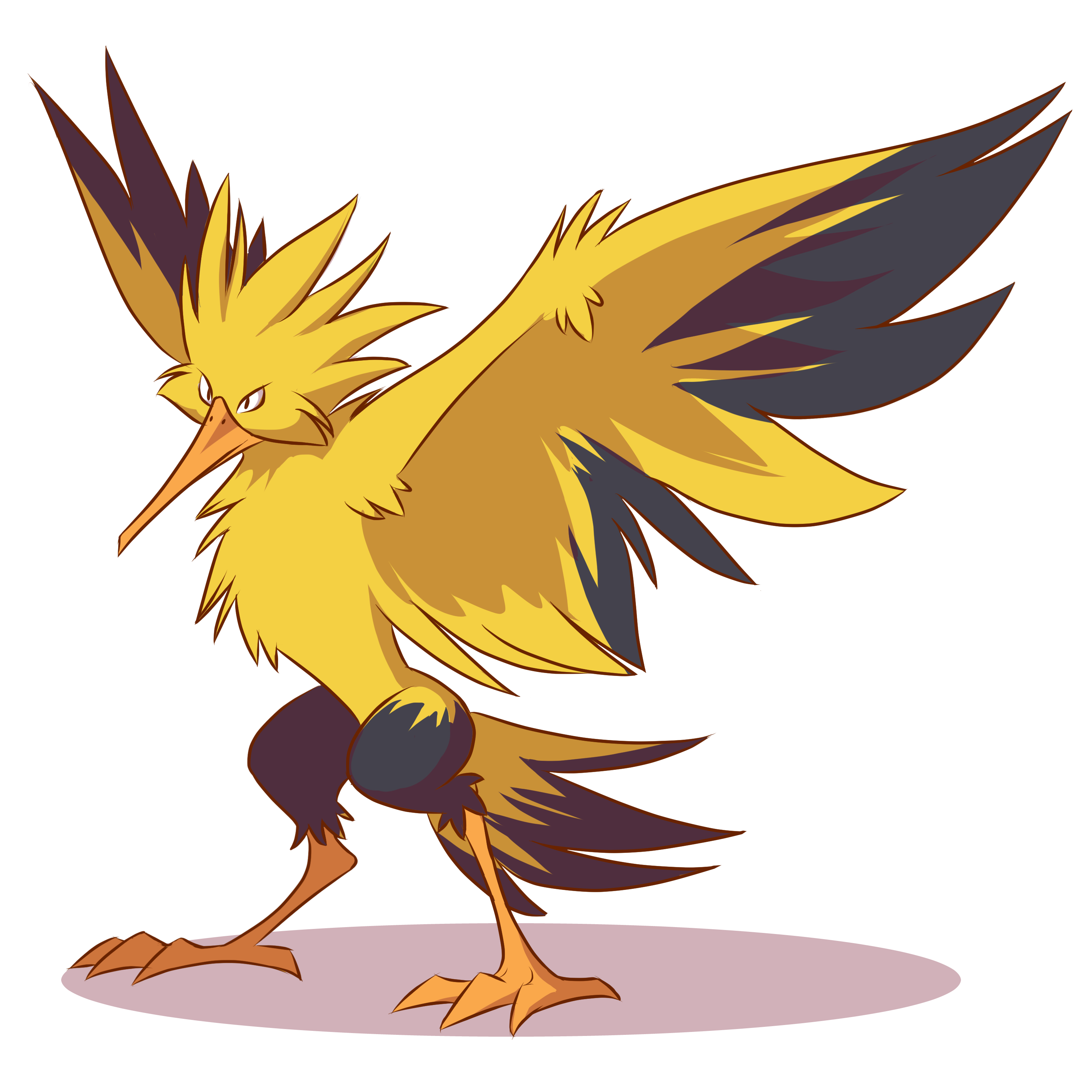 zapdos drawing cool