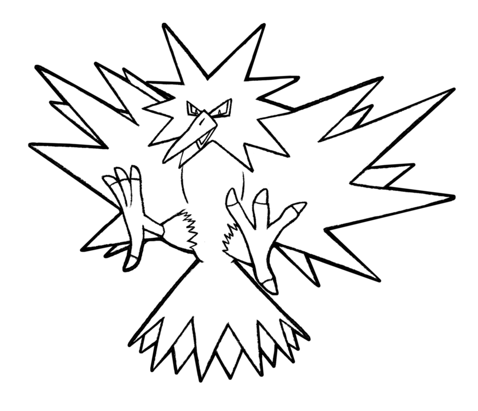 by realarpmbq on. Zapdos drawing banner free stock