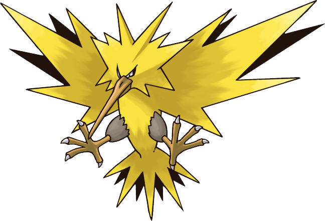 Zapdos drawing ash. The legendary officially begins