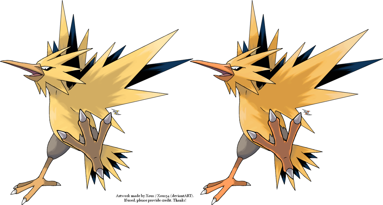 Zapdos drawing legendry. Drawings www topsimages com