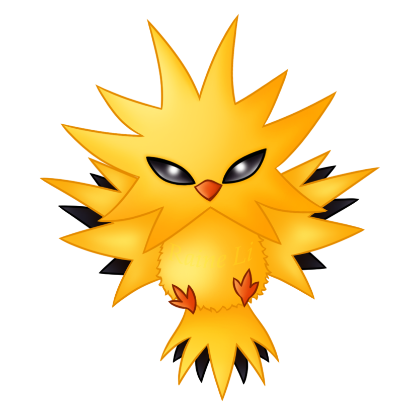 Zapdos drawing cartoon. By raineli on deviantart