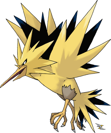 Zapdos drawing easy. My artwork for the
