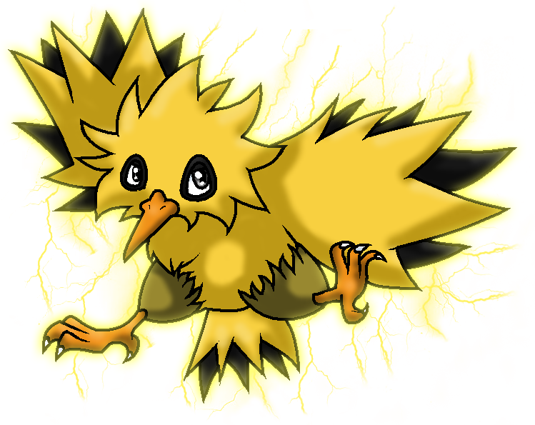 Zapdos drawing legend. Chibi by awwesomesoph on