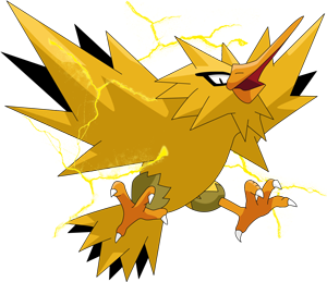 zapdos drawing shading