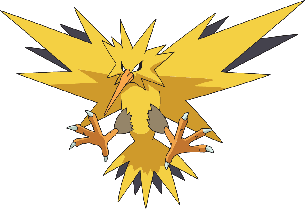 Pinterest pok mon cosplay. Zapdos drawing png black and white stock