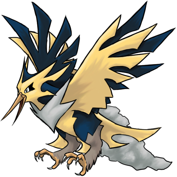 Mega by thecompleteanimorph on. Zapdos drawing ash image black and white stock