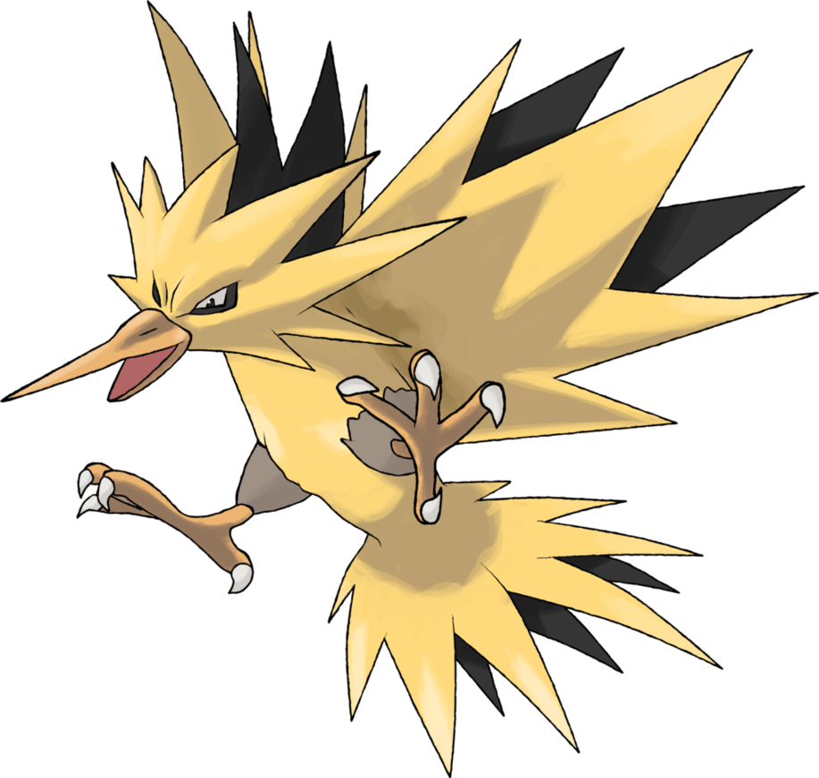 Day by theangryaron on. Zapdos drawing ash clipart free