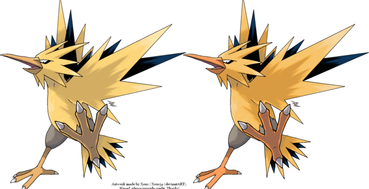 Zapdos drawing legend. Pokemon go may have