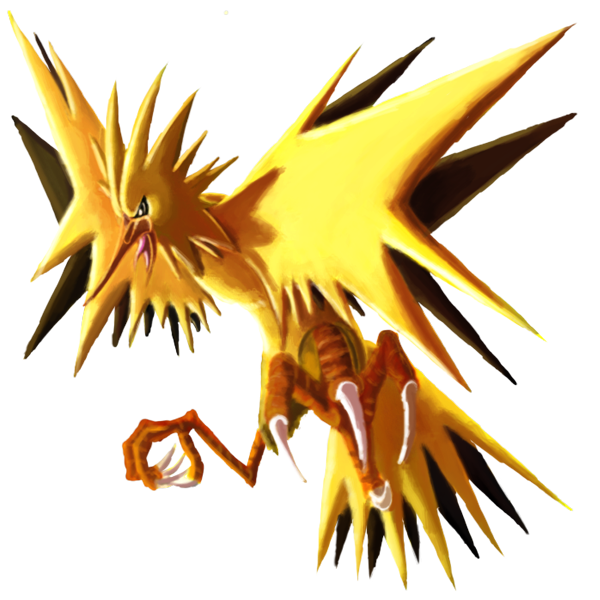 Collab by danceswithfoxes on. Zapdos drawing realistic clipart library