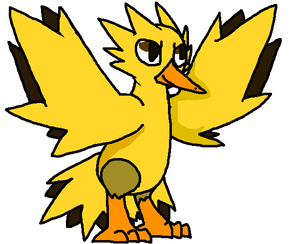 Zapdos drawing shading. By stormshine on deviantart
