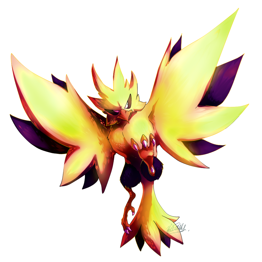 Zapdos drawing shading. By tailsfoxyfoxy on deviantart
