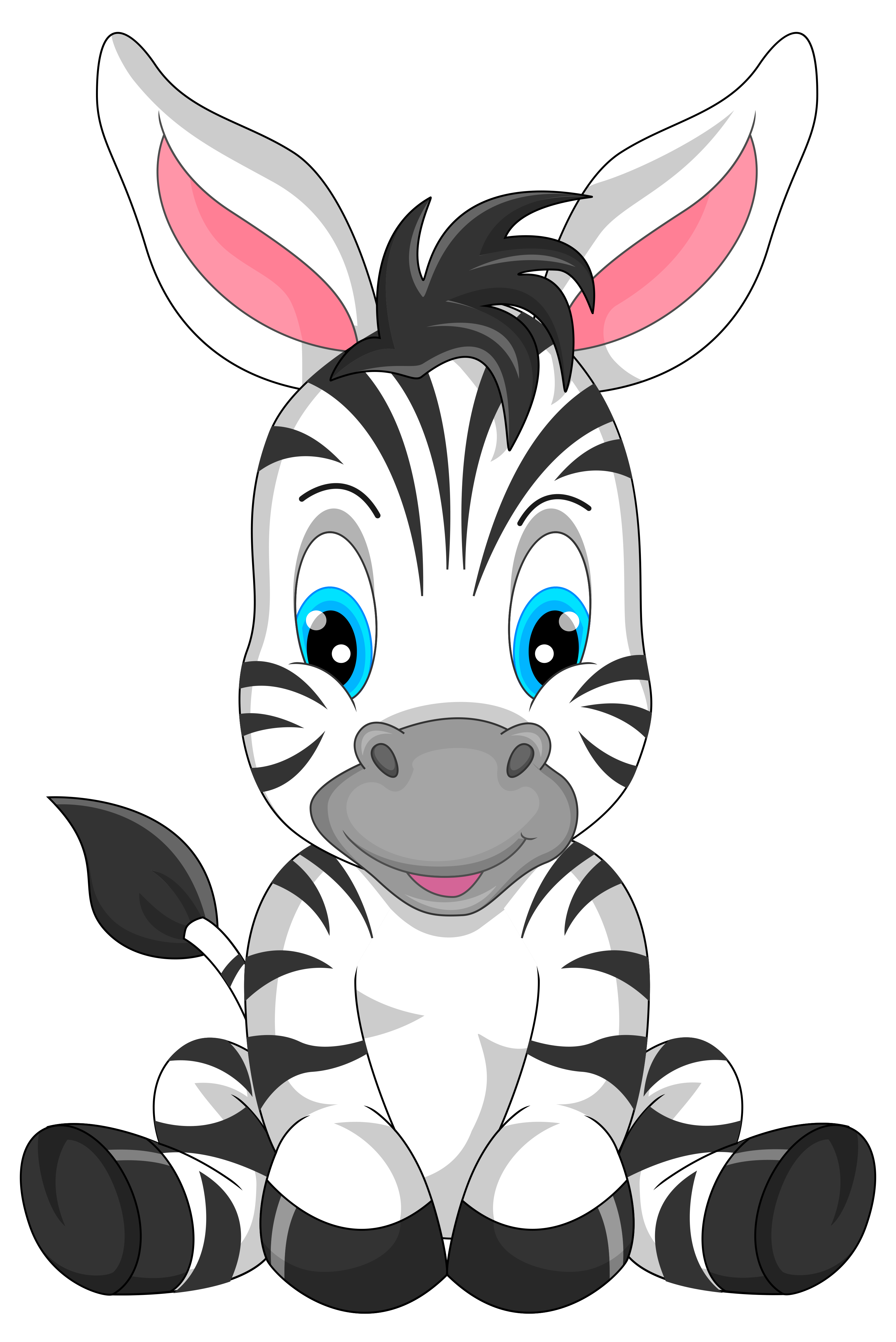 Zebra clipart transparent background. Cute cartoon png image