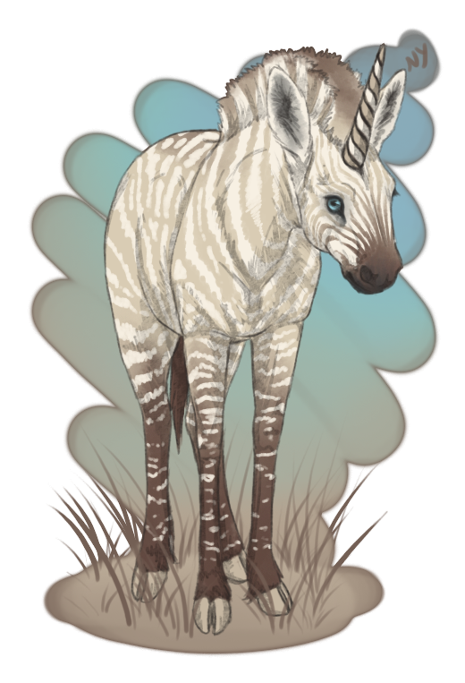 By nyctra on deviantart. Zebra unicorn png banner black and white