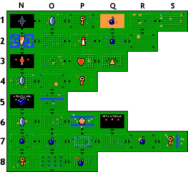 zelda dungeon map png