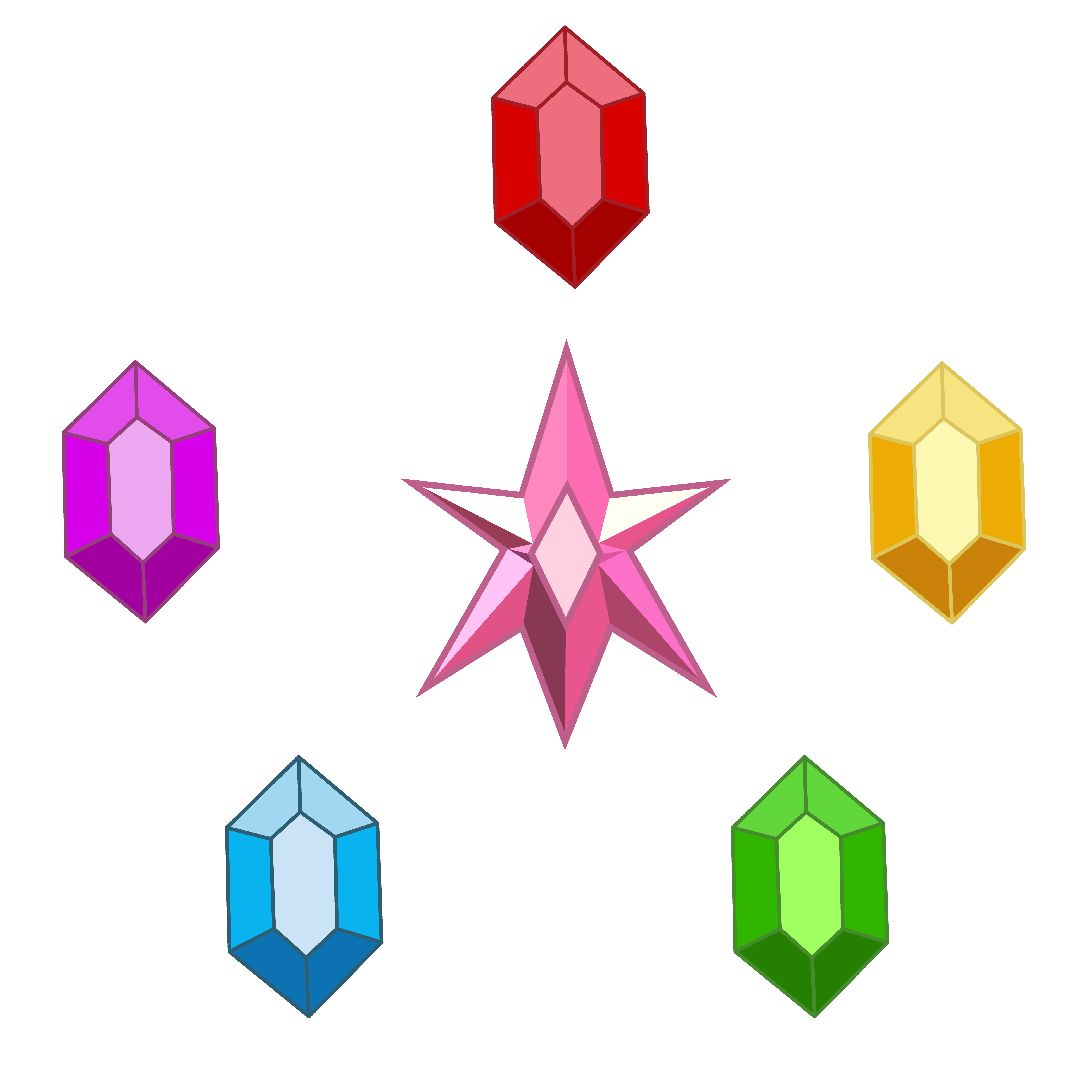 Elements of harmony by. Gems vector graphic royalty free