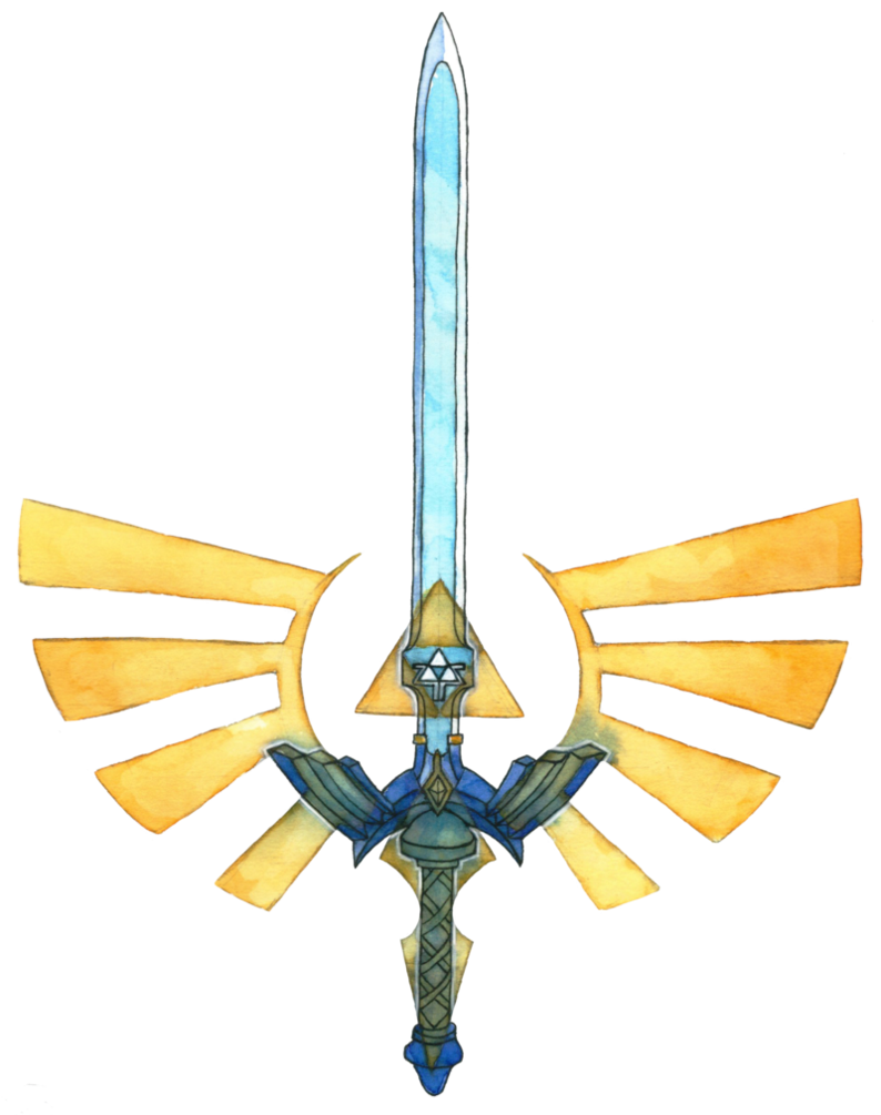 Zelda master sword png. Tattoo design by saskle