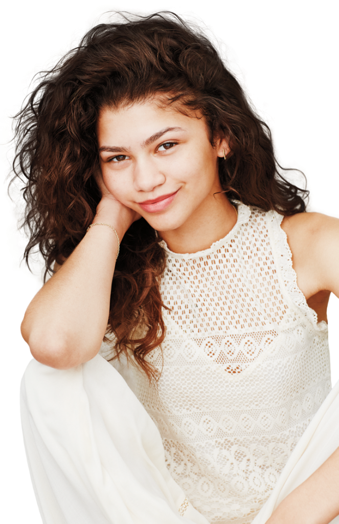 Zendaya transparent photography. Png image with background
