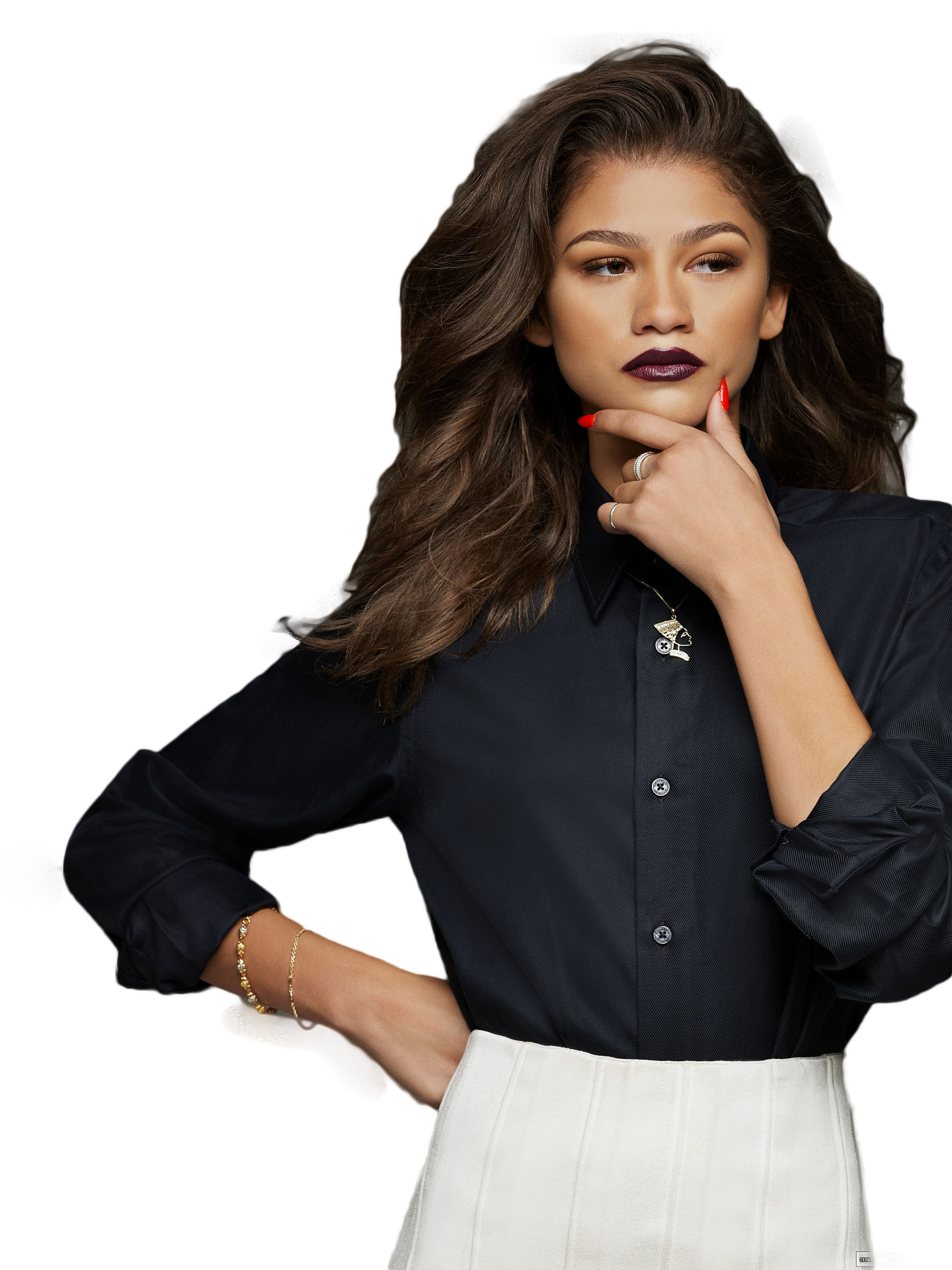 zendaya transparent makeup