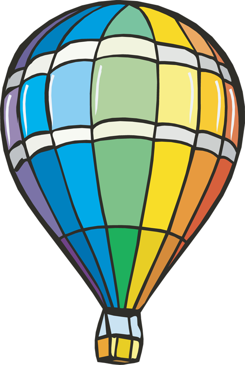 Zeppelin drawing balloon. Free hot air clipart