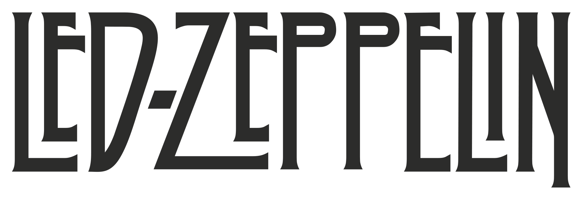 Zeppelin drawing sticker. Led logo symbol meaning