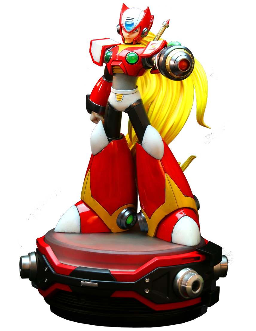 Zero megaman png. Red scale statue by