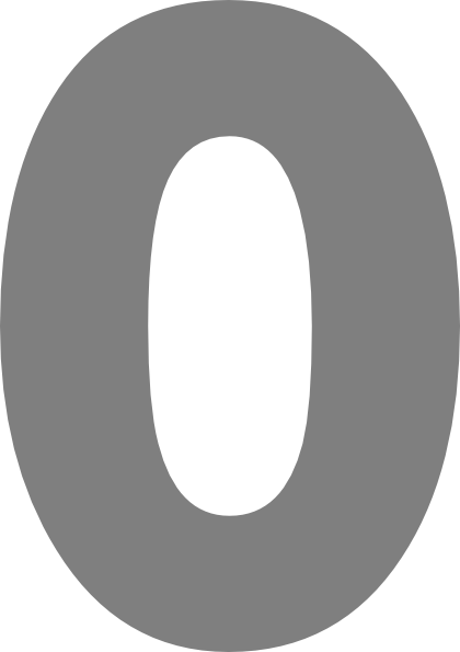 Number download png image. Zero transparent image library stock