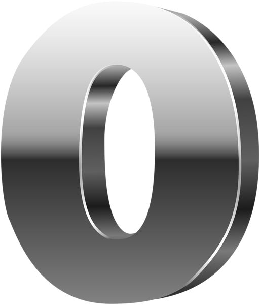 Number d silver png. Zero transparent jpg royalty free