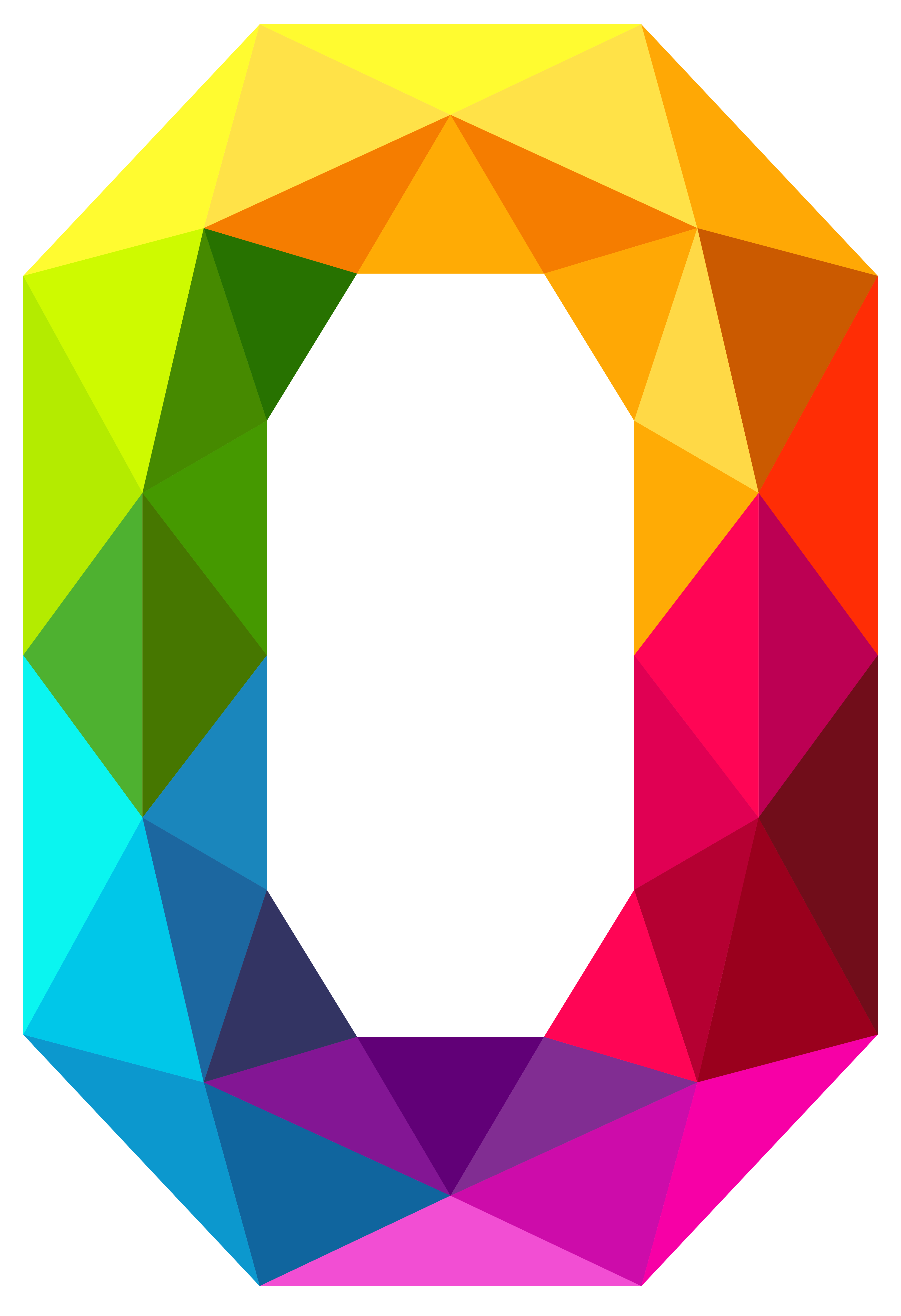 Colourful triangles png clipart. Zero transparent number image library library