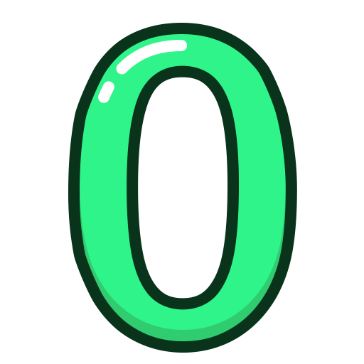 Zero transparent number. Image png arts