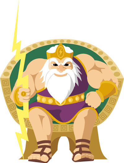 Zeus vector kid. Collection of free greece