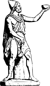 Zeus vector odysseus. Statue clip art at