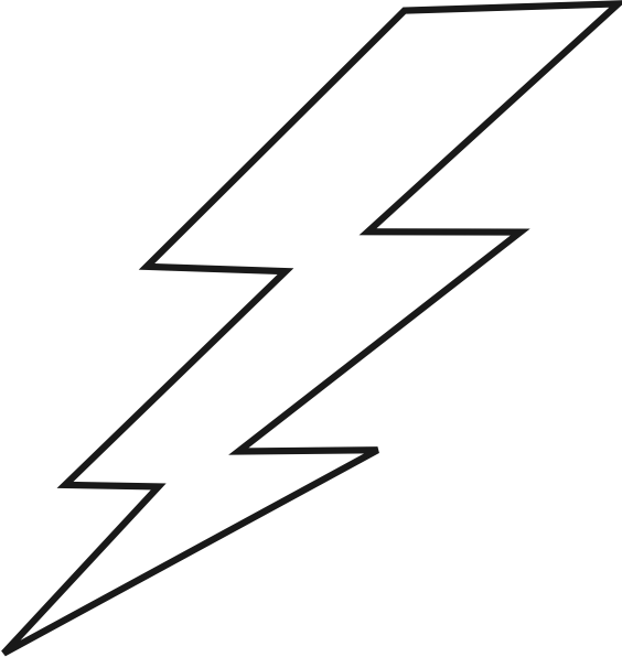Lightning bolt clipart black and white. Free outline download clip