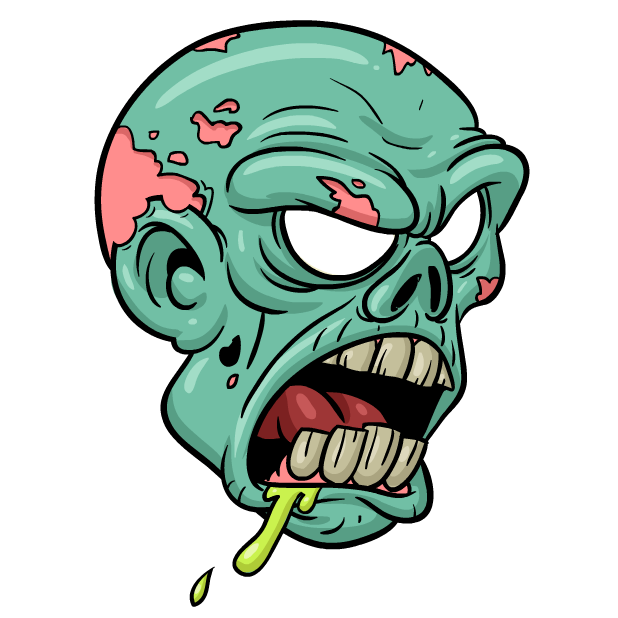 Zombie cartoon png. Stickers by smart messages