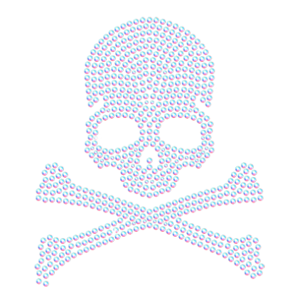 Zombie effect png. Classic rhinestones design with