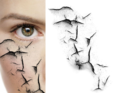 Zombie effect png. Broken crack psd