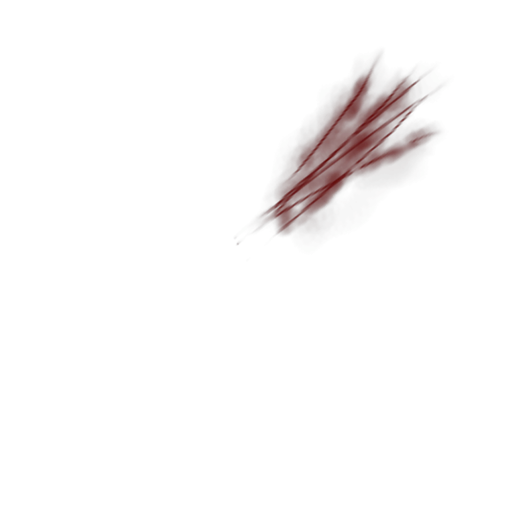 Transparent scars zombie. High resolution scratches png