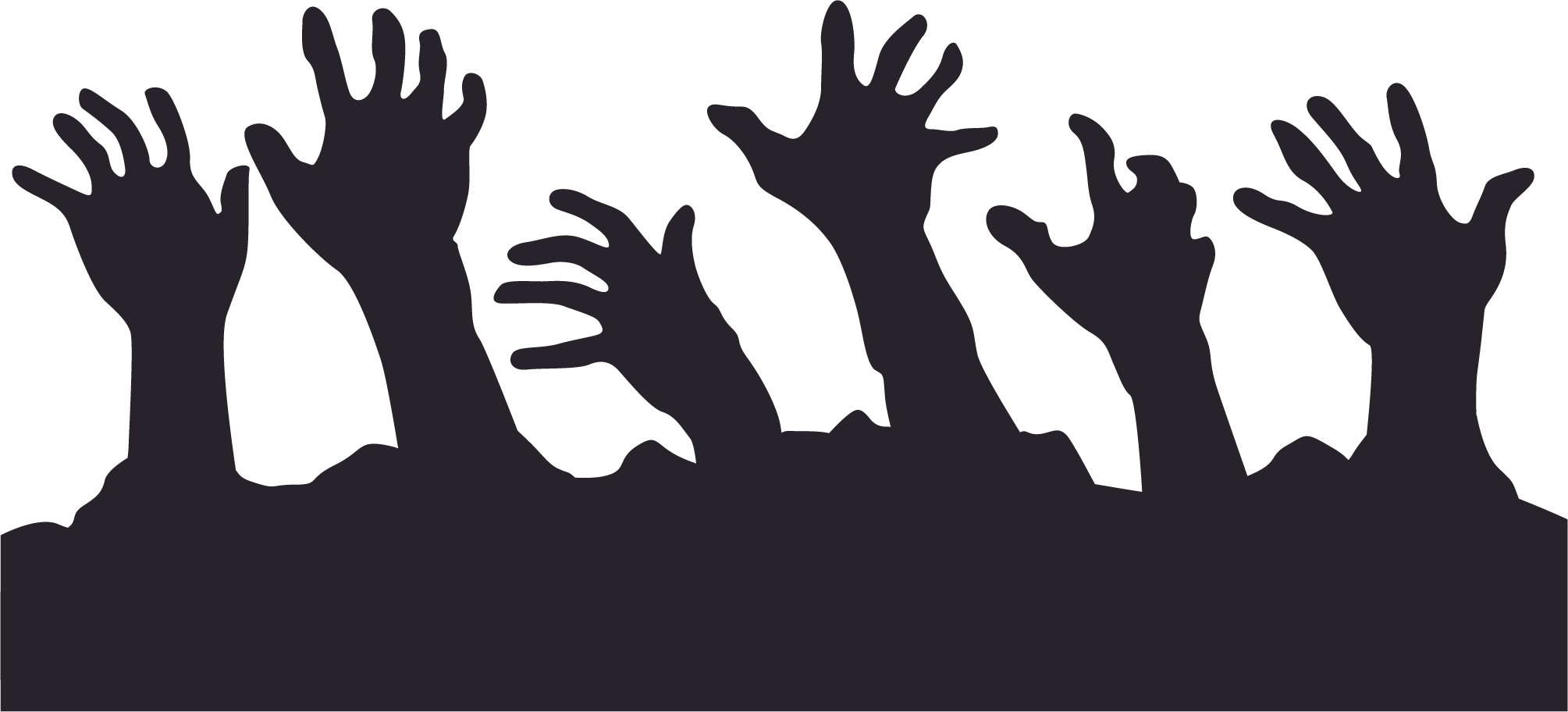 Vector zombie silhouette. Hand png free download