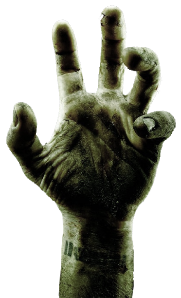 Zombie hands png. Hand by kooyooss on