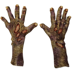 Zombie hands png. Pair of transparent stickpng