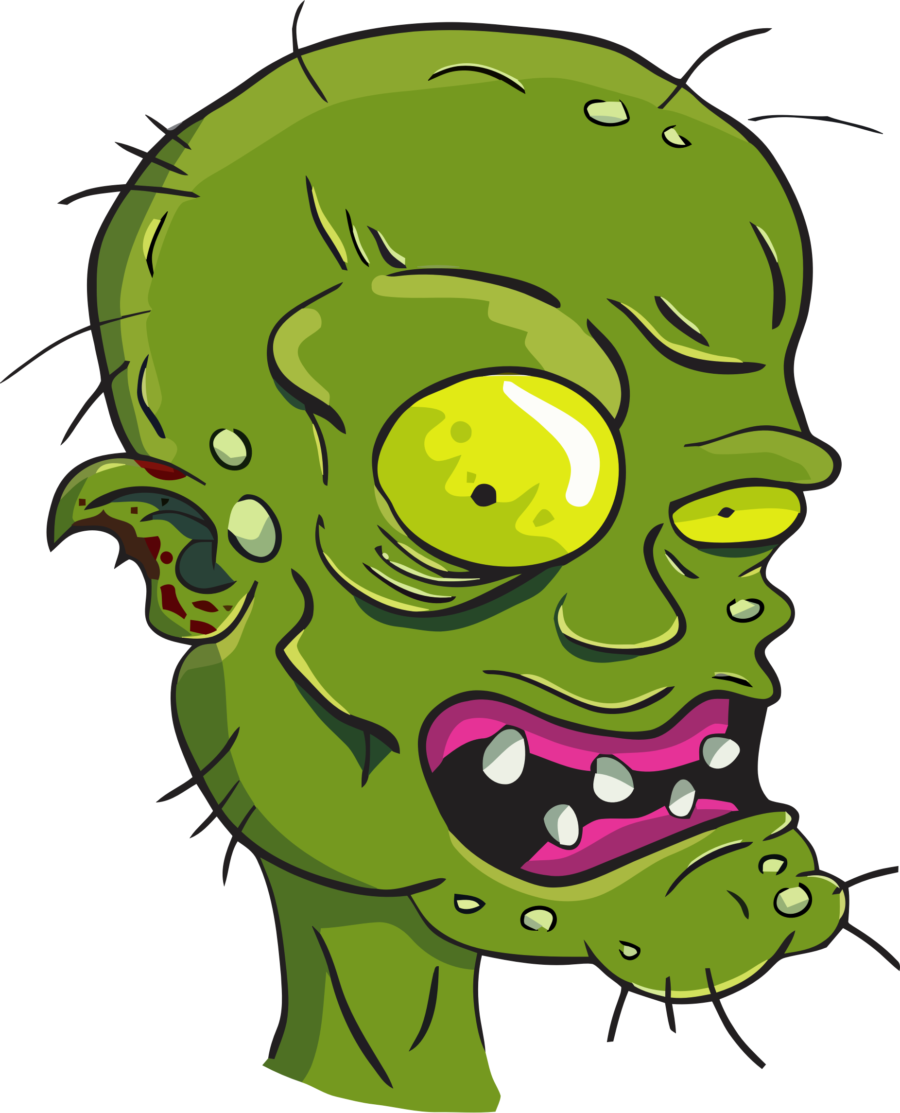 Vector zombie detailed. Head icons png free